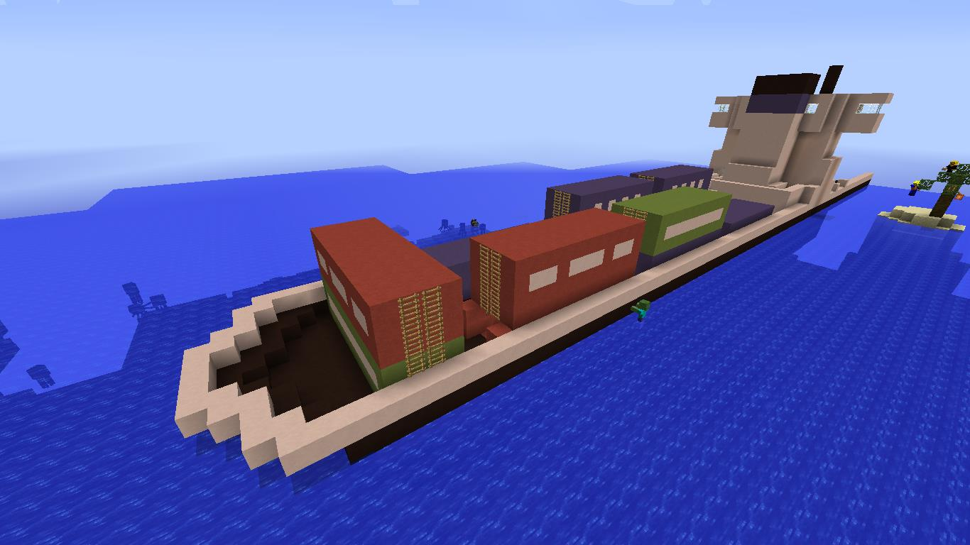 minecraft how to build a small ship